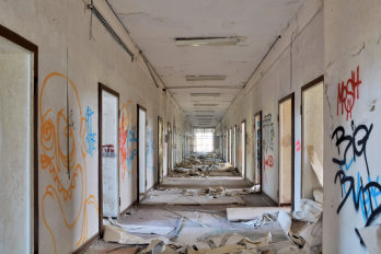 Abandoned and disused buildings can contain sharps dangers like used drug needles