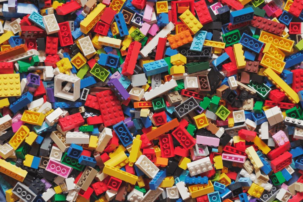 Lego bricks to representing building