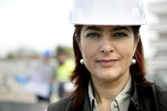 A female senior health and safety person