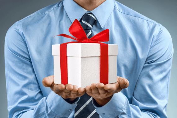 Businessman gift reward concept