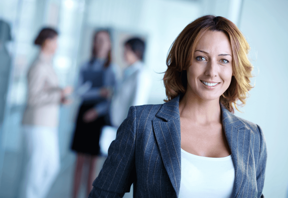 A female manager new to a managerial role