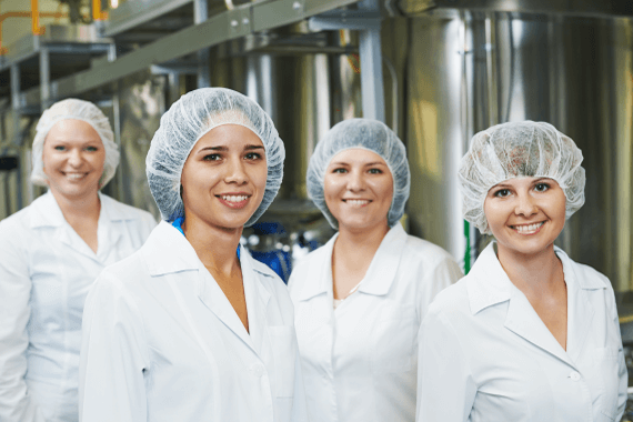 Employees in the food manufacturing industry